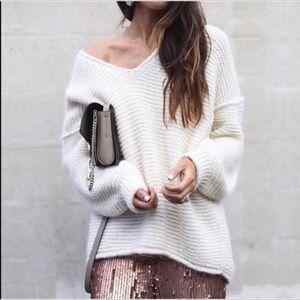 Free People All Mine Oversized Sweater Dolman XS